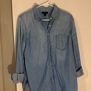 J. Crew Blue Chambray top